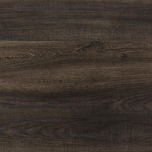 Latte pour plancher Solid Core, vinyle de luxe, 7,5po x 47,6po, Midnight Wood, 24,74 pi2/boîte