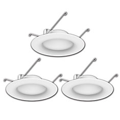 5 or 6-inch 65W Equivalent Bright White Integrated LED Recessed Trim Light (3-Pack) - ENERGY STAR