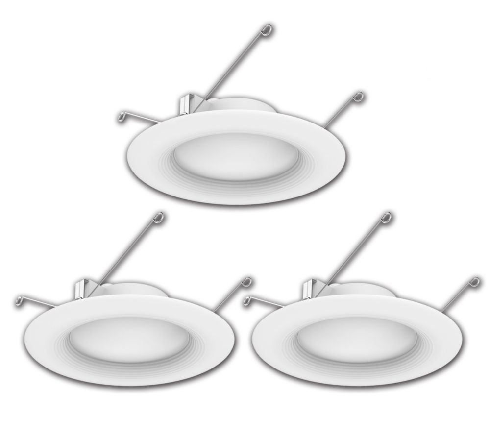 Ecosmart 5 or 6-inch 65W Equivalent Bright White Integrated LED Recessed Trim Light (3-Pack) - ENERGY STAR