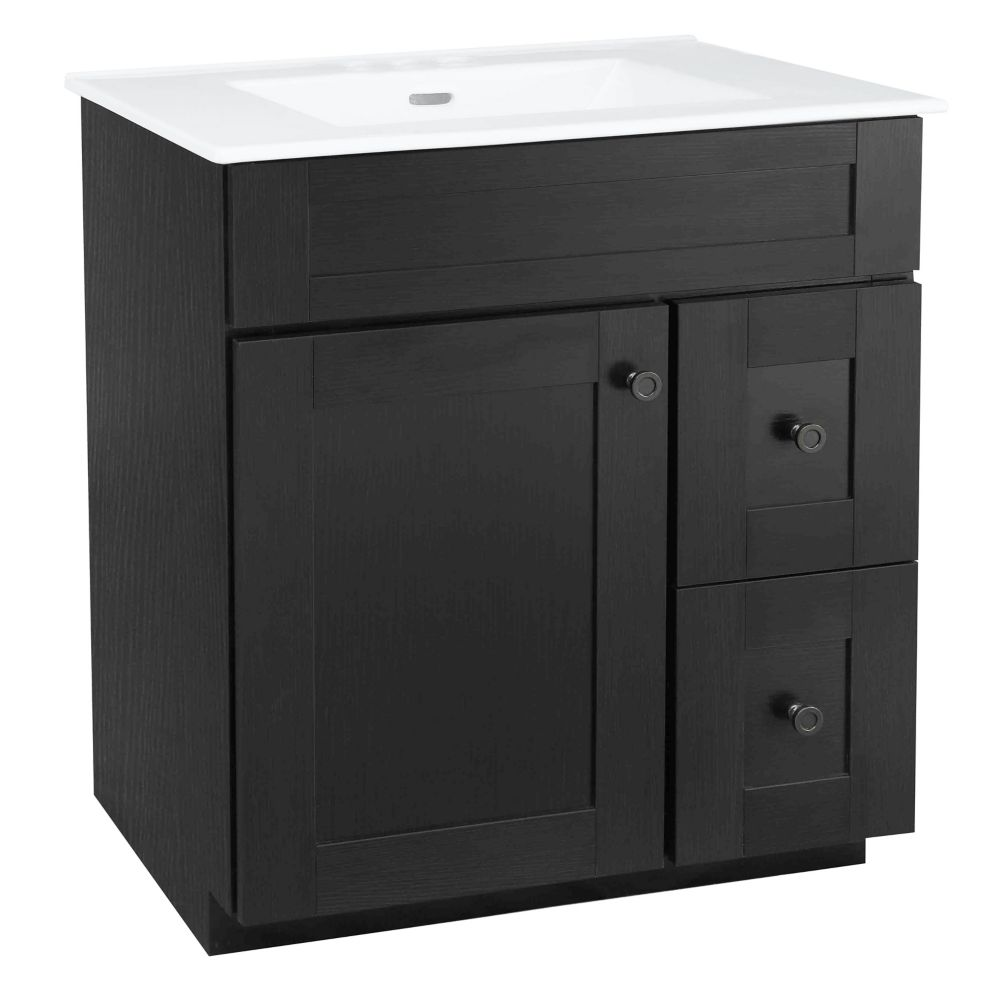 eldan 30 inch w vanity combo with white vitreous - Bathroom Cabinets Kelowna