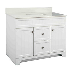 Whitton 42-inch W Vanity Combo with White Engineered Stone Top