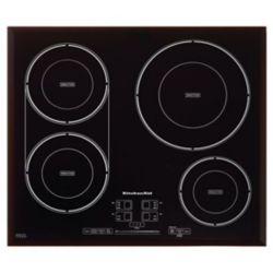 KitchenAid Table de cuisson à induction de 24 pouces en noir avec 4 éléments