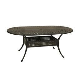 ONSIGHT Maxwell 72-inch x 42-inch Oval Round Patio Table