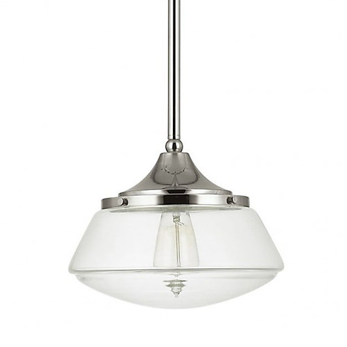 Home decorators collection 1 light clear glass schoolhouse pendant 1 light clear glass schoolhouse pendant aloadofball Images