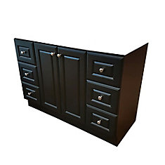48 Inch W Classic Vanity Base - Dark Chocolate finish