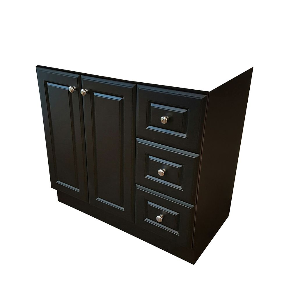 36 Inch W Classic Vanity Base  Dark Chocolate Finish Cabinets The Home Depot Canada