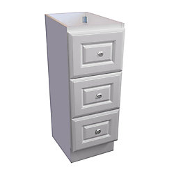 Magick Woods 12 inch W Classic Drawer Bank - Matte White