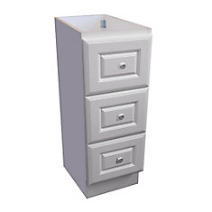 12 Inch W Classic Drawer Bank - Matte White