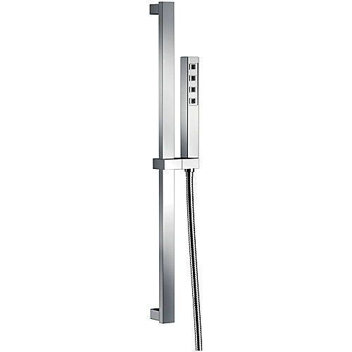 Slide Bar Hand Shower with H2Okinetic in Chrome