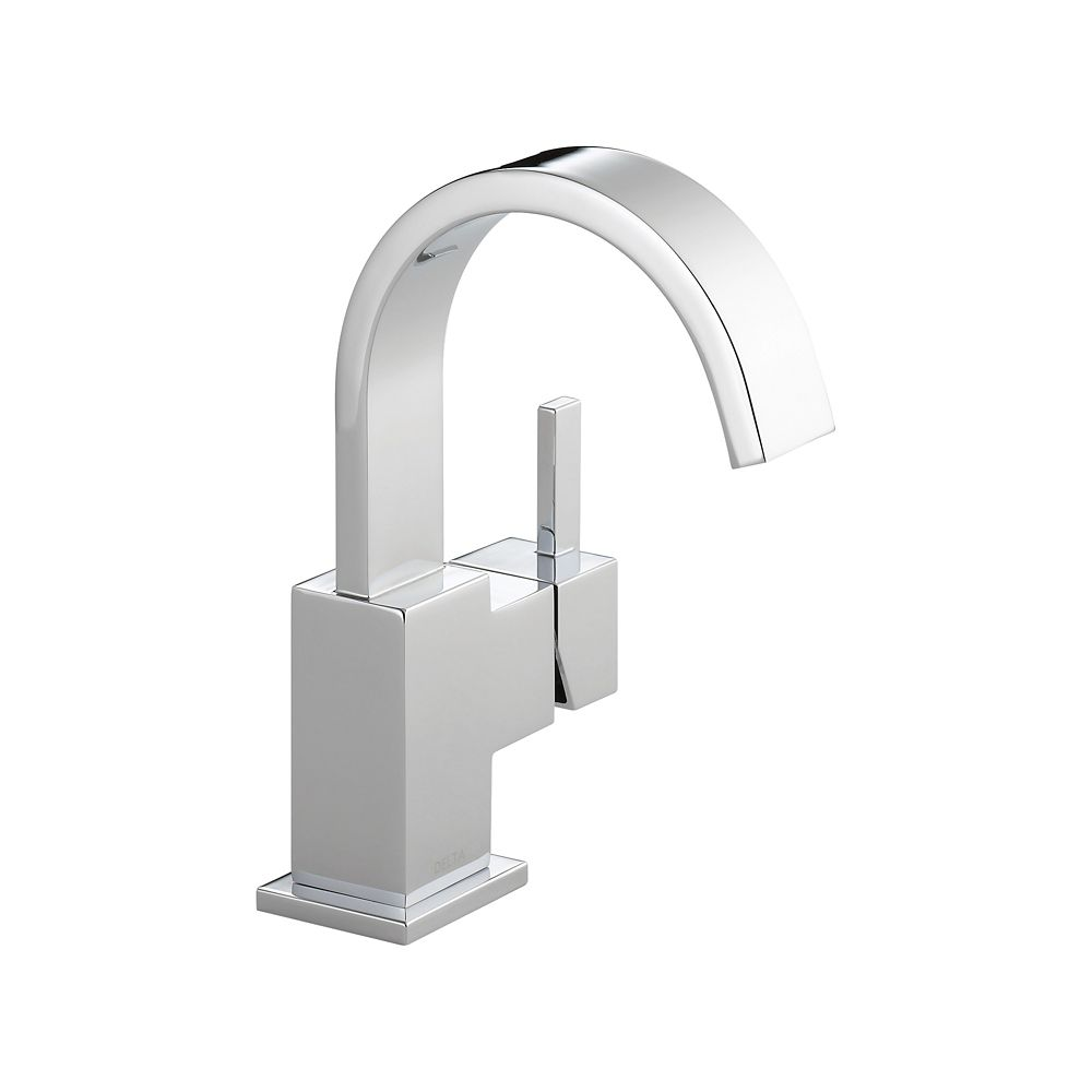 Delta Vero Single Hole 1-Handle High Arc Bathroom Faucet in Chrome with Lever Handle