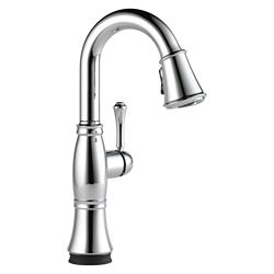 Delta Cassidy Single Handle Pull-Down Bar/Prep Faucet with Touch2O(R) Technology, Chrome