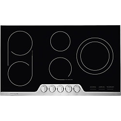 36-inch Electric Cooktop in Stainless Steel with 5 Elements