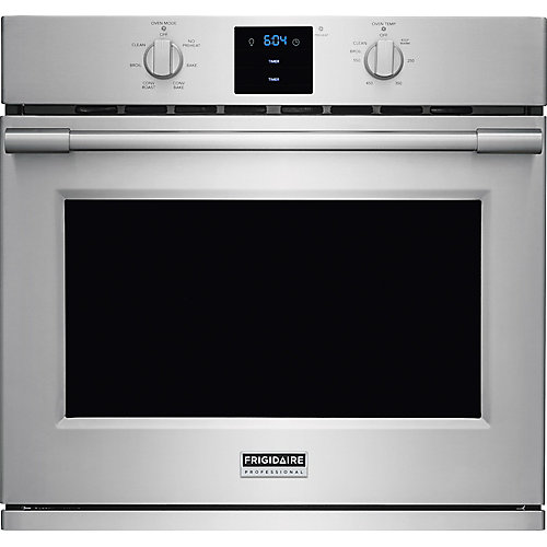 30-inch Single Electric Wall Oven Self-Cleaning with Convection in Stainless Steel