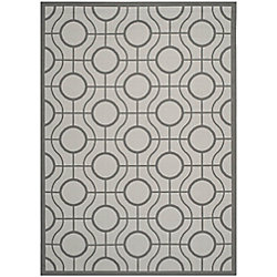 Safavieh Courtyard Ira Light Grey / Anthracite 6 ft. 7 inch x 9 ft. 6 inch Indoor/Outdoor Area Rug