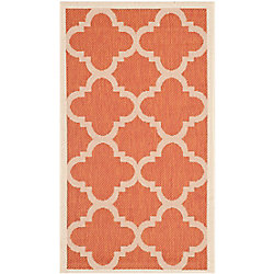 Safavieh Courtyard Alex Terracotta 2 ft. x 3 ft. 7 inch Indoor/Outdoor Area Rug