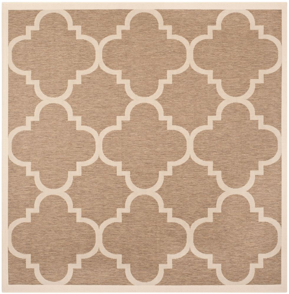 Safavieh Courtyard Alex Brown 4 ft. x 4 ft. Indoor/Outdoor Square Area Rug
