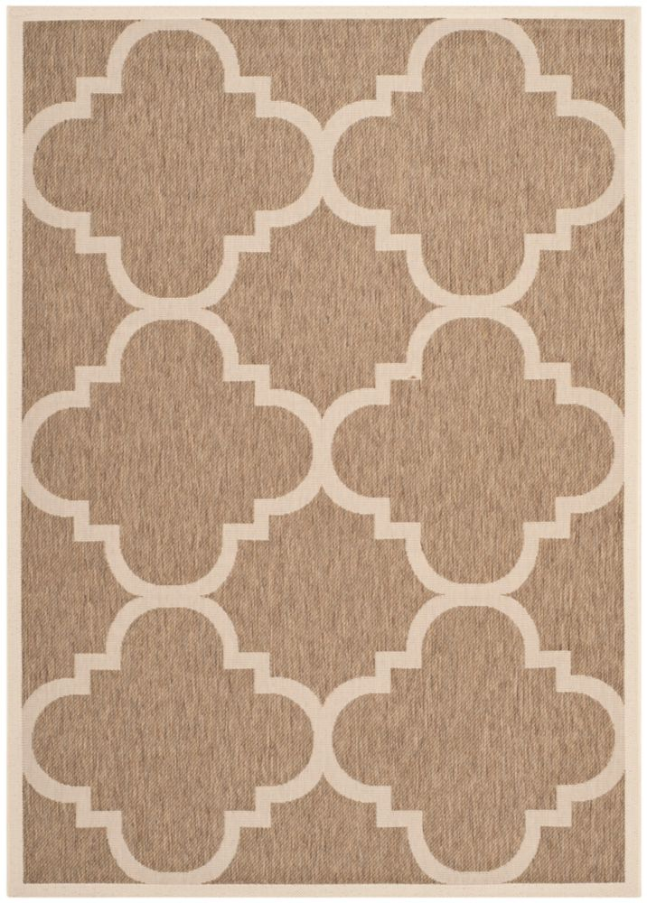 Safavieh Courtyard Alex Brown 5 ft. 3 inch x 7 ft. 7 inch Indoor/Outdoor Area Rug