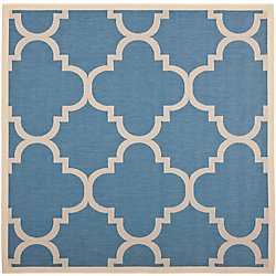 Safavieh Courtyard Alex Blue / Beige 5 ft. 3 inch x 5 ft. 3 inch Indoor/Outdoor Square Area Rug