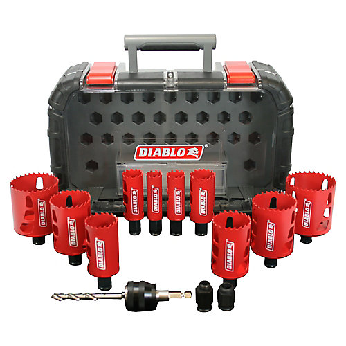 14-Piece General Purpose Bi-Metal Hole Saw Set