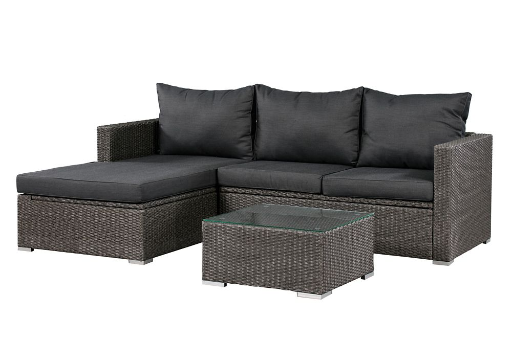 Patio Flare Emmett Deep Seating Patio Sofa Sectional Set With