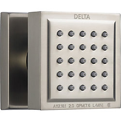Delta Surface Mount Body Spray, Stainless Steel