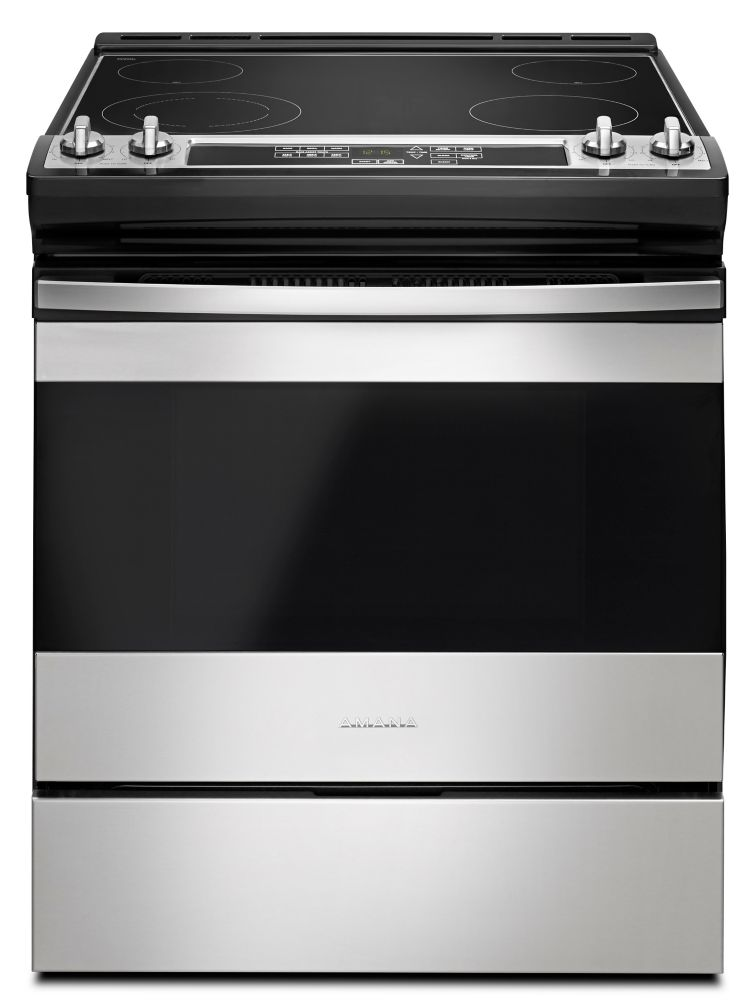 Amana 30-inch 4.8 cu.ft Single Oven Electric Range with Self-Cleaning in Stainless Steel