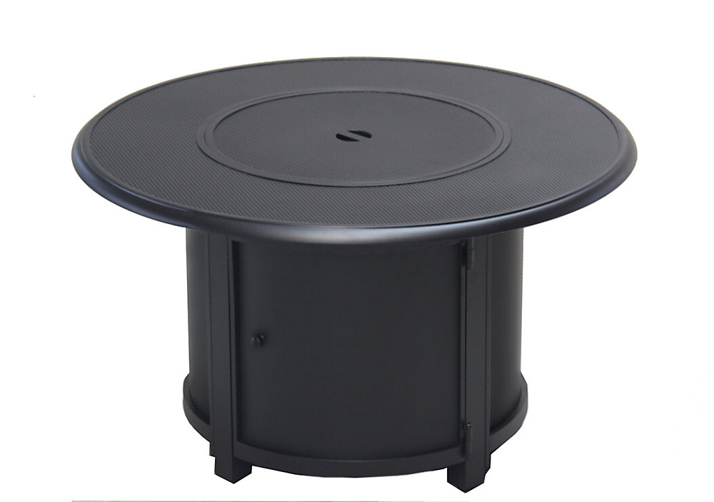 Stamped Round Aluminum Propane Fire Table
