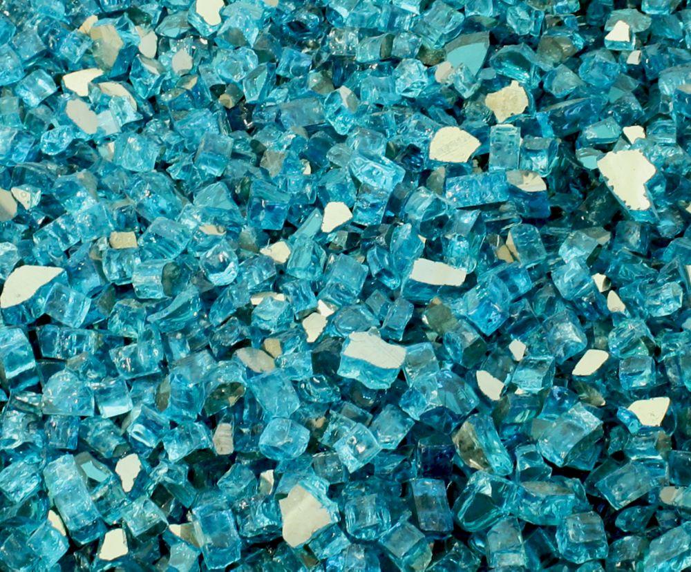 Reflective Caribbean: Paramount 10 Lb. Jar Of Reflective Fireglass In Luminous