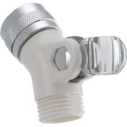Delta Pin Mount Swivel Connector for Hand Shower, White
