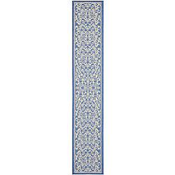 Safavieh Courtyard Marc Blue / Natural 2 ft. 3 inch x 14 ft. Indoor/Outdoor Runner