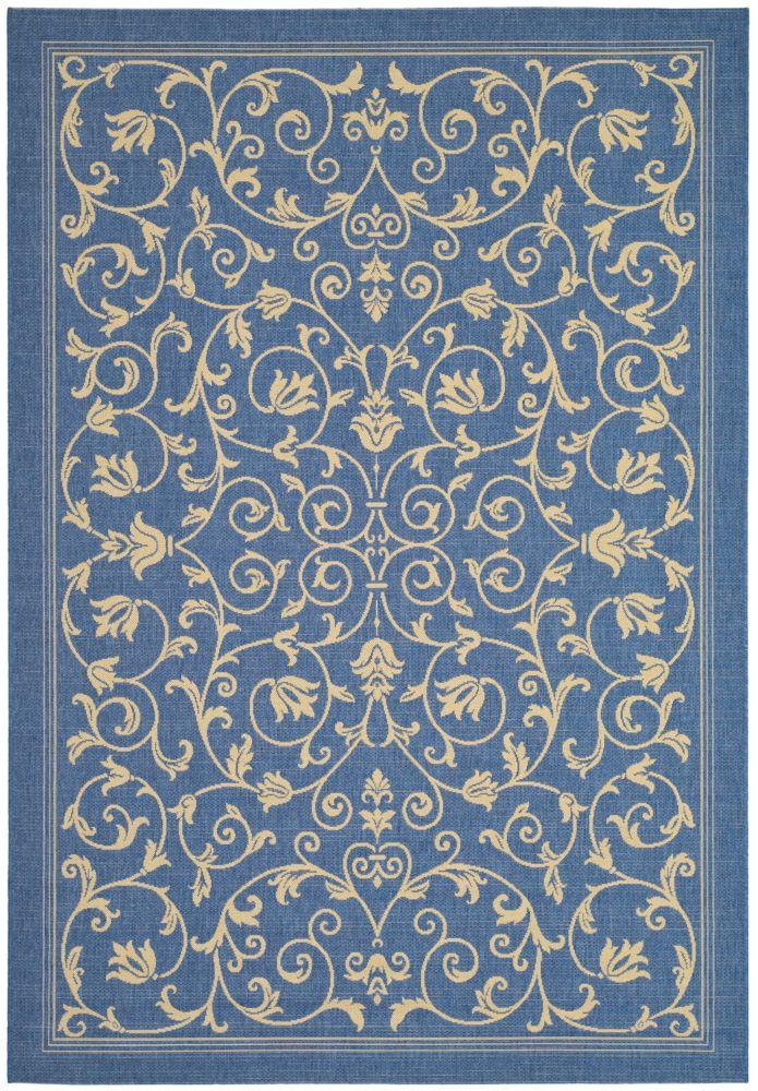 Safavieh Courtyard Blue 5 ft. 3-inch x 7 ft. 7-inch Indoor/Outdoor Rectangular Area Rug - CY2098-3103-5