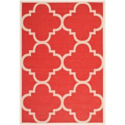 Safavieh Courtyard Alex Red 4 ft. x 5 ft. 7 inch Indoor/Outdoor Area Rug