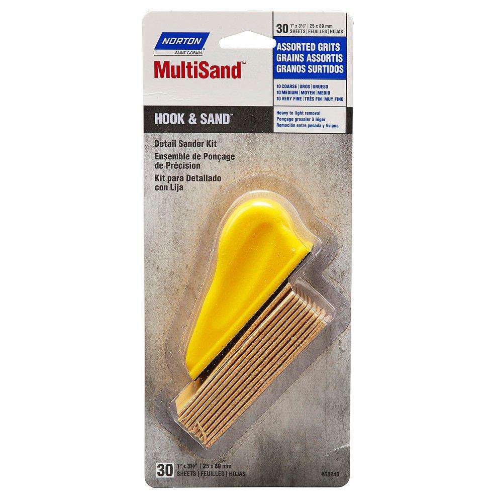 Norton MultiSand Hook and Loop Detail Sander Kit Assorted Grits