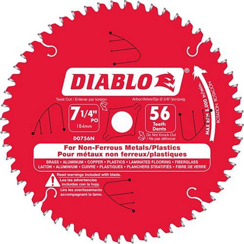 Diablo Lame non-ferreux 7-1/4 x 56 D