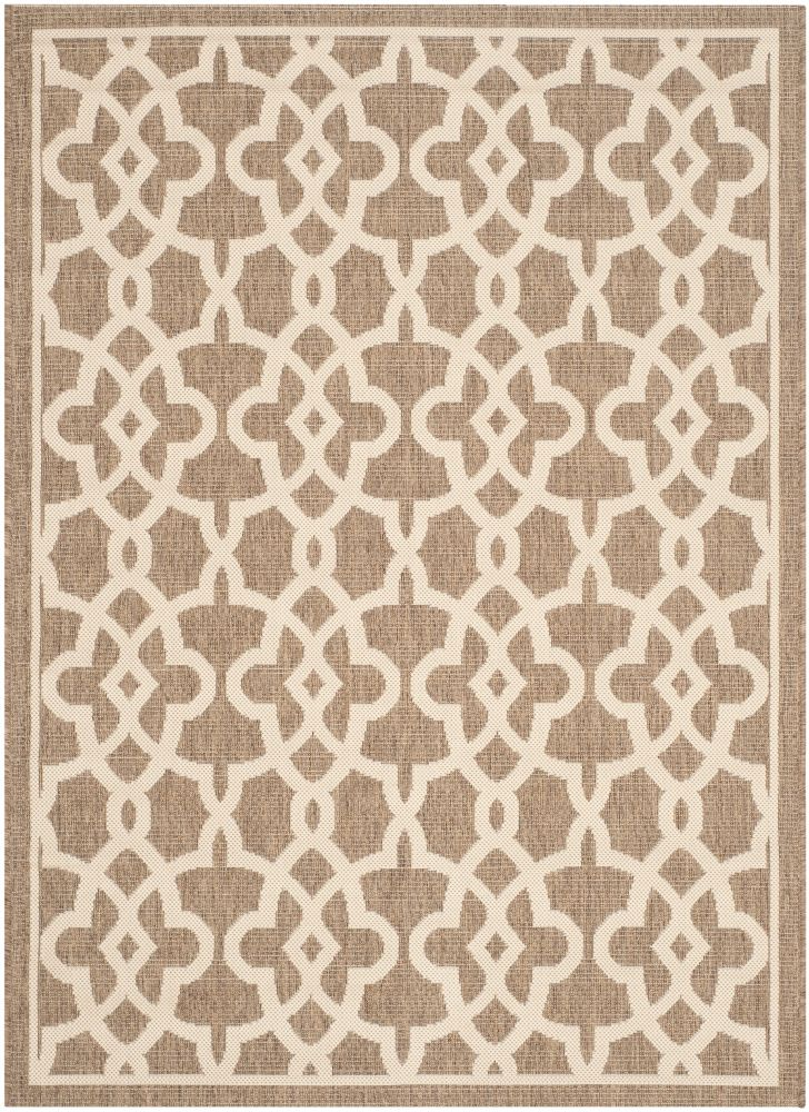 Safavieh Courtyard Jane Mocha / Beige 2 ft. 7 inch x 5 ft. Indoor/Outdoor Area Rug