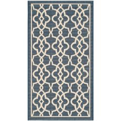 Safavieh Courtyard Jane Navy / Beige 4 ft. x 5 ft. 7 inch Indoor/Outdoor Area Rug