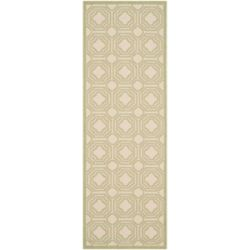 Safavieh Courtyard Anton Beige / Sweet Pea 2 ft. 3 inch x 6 ft. 7 inch Indoor/Outdoor Runner