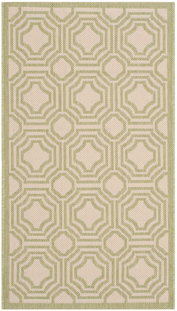Courtyard Anton Beige / Sweet Pea 2 ft. 7 inch x 5 ft. Indoor/Outdoor Area Rug