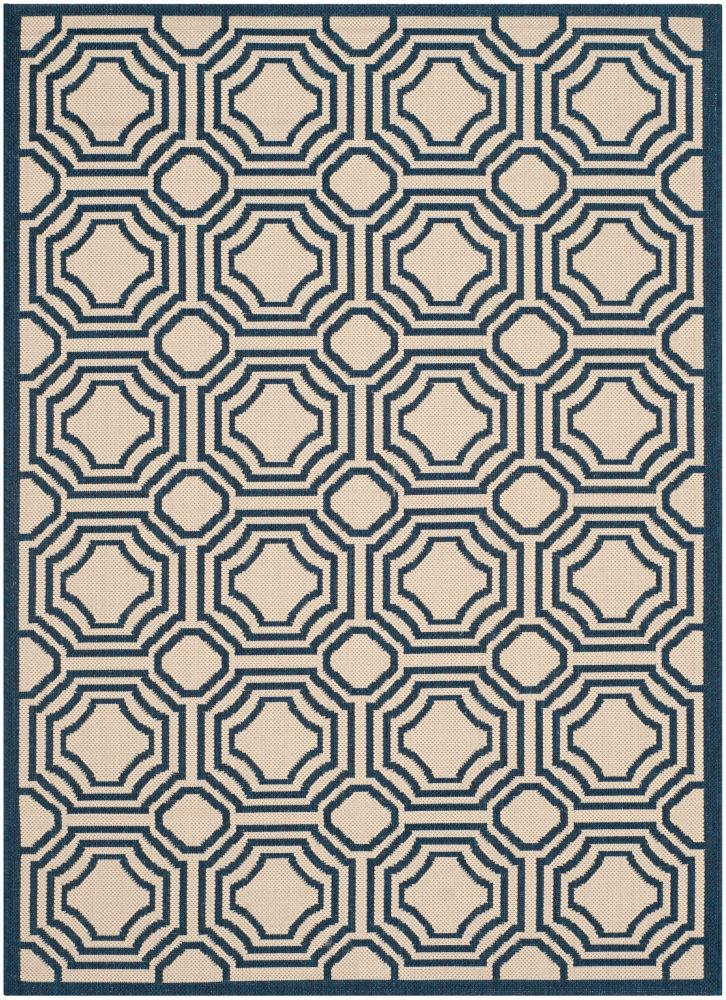 Safavieh Courtyard Blue 2 ft. 7-inch x 5 ft. Indoor/Outdoor Rectangular Area Rug - CY6112-258-3
