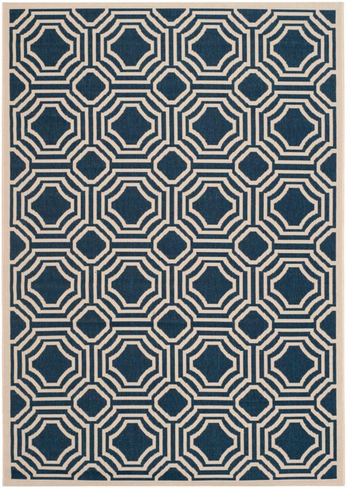 Safavieh Courtyard Blue 5 ft. 3-inch x 7 ft. 7-inch Indoor/Outdoor Rectangular Area Rug - CY6112-268-5