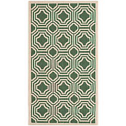 Safavieh Courtyard Anton Dark Green / Beige 2 ft. x 3 ft. 7 inch Indoor/Outdoor Area Rug