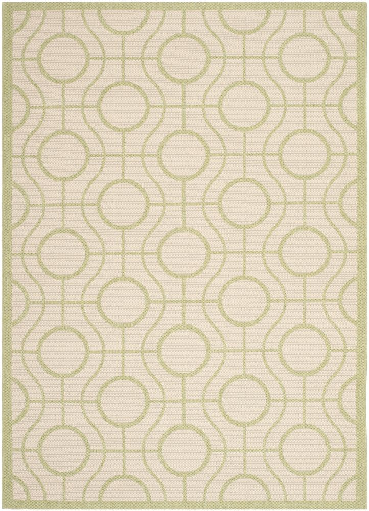 Safavieh Courtyard Ira Beige / Sweet Pea 5 ft. 3 inch x 7 ft. 7 inch Indoor/Outdoor Area Rug