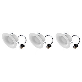 Eco Smart 9w 65w 4 Inch Led Downlight Dimmable 3000k Bw Es2 0 35000h 3 Pack The Home Depot Canada