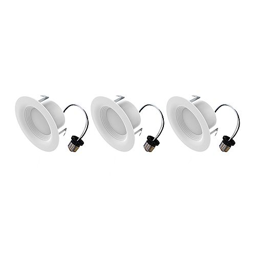 Ecosmart 4-inch 65W Equivalent Daylight (5000K) Integrated LED Recessed Trim Light (3-Pack) - ENERGY STAR
