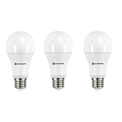 Ecosmart 100W Equivalent Daylight (5000K) A19 Dimmable LED Light Bulb (3-Pack) - ENERGY STAR
