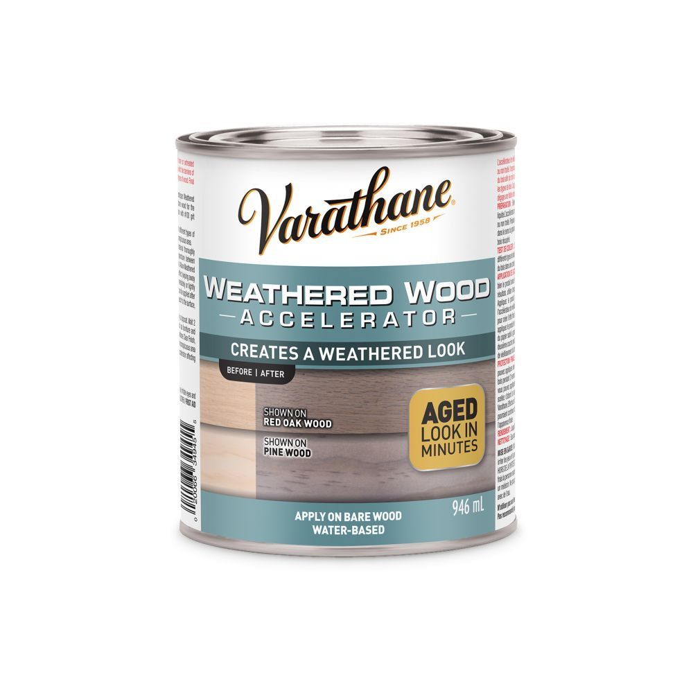 Varathane 946mL Weathered Wood Accelerator Wood Finish
