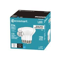 Ecosmart 65W Equivalent Bright White (3000K) BR30 Dimmable LED Light Bulb (4-Pack) - ENERGY STAR