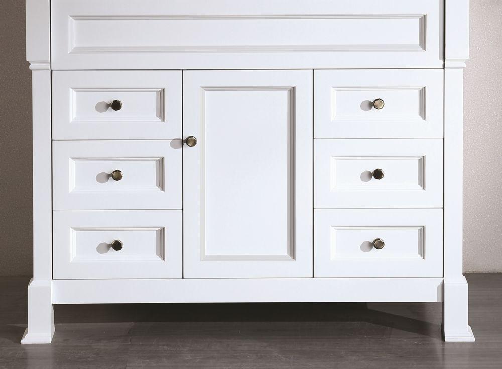 Bosconi Bosconi 42.50-inch W 6-Drawer 1-Door Freestanding Vanity in White