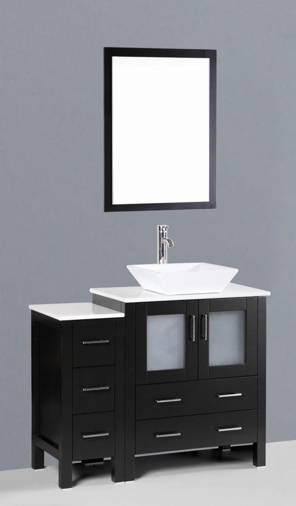 Bosconi 42 Inch Bosconi AB130S1S Single Vanity