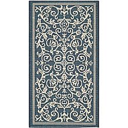 Safavieh Courtyard Blue 2 ft. 7-inch x 5 ft. Indoor/Outdoor Rectangular Area Rug - CY2098-268-3